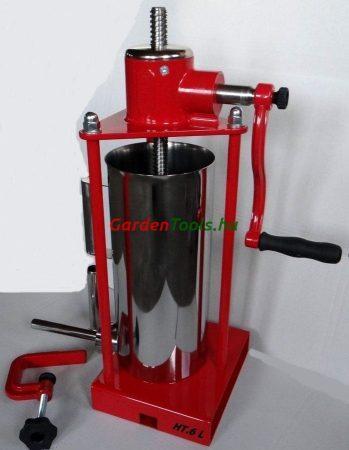Hurkatöltő, 5 literes álló, magyar gyártás, inox tartállyal