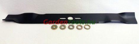 UNIVERSAL 560 mm-es fűnyírókés 5 betétgyűrű különböző méretekben 9,5-12,7-14,3-15,9-19,05 mm (RK991)
