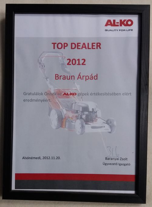 2012 év AL-KO Top Dealer